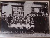 Lad in Lane Football Team Where Billy Was a Landlord around 1910