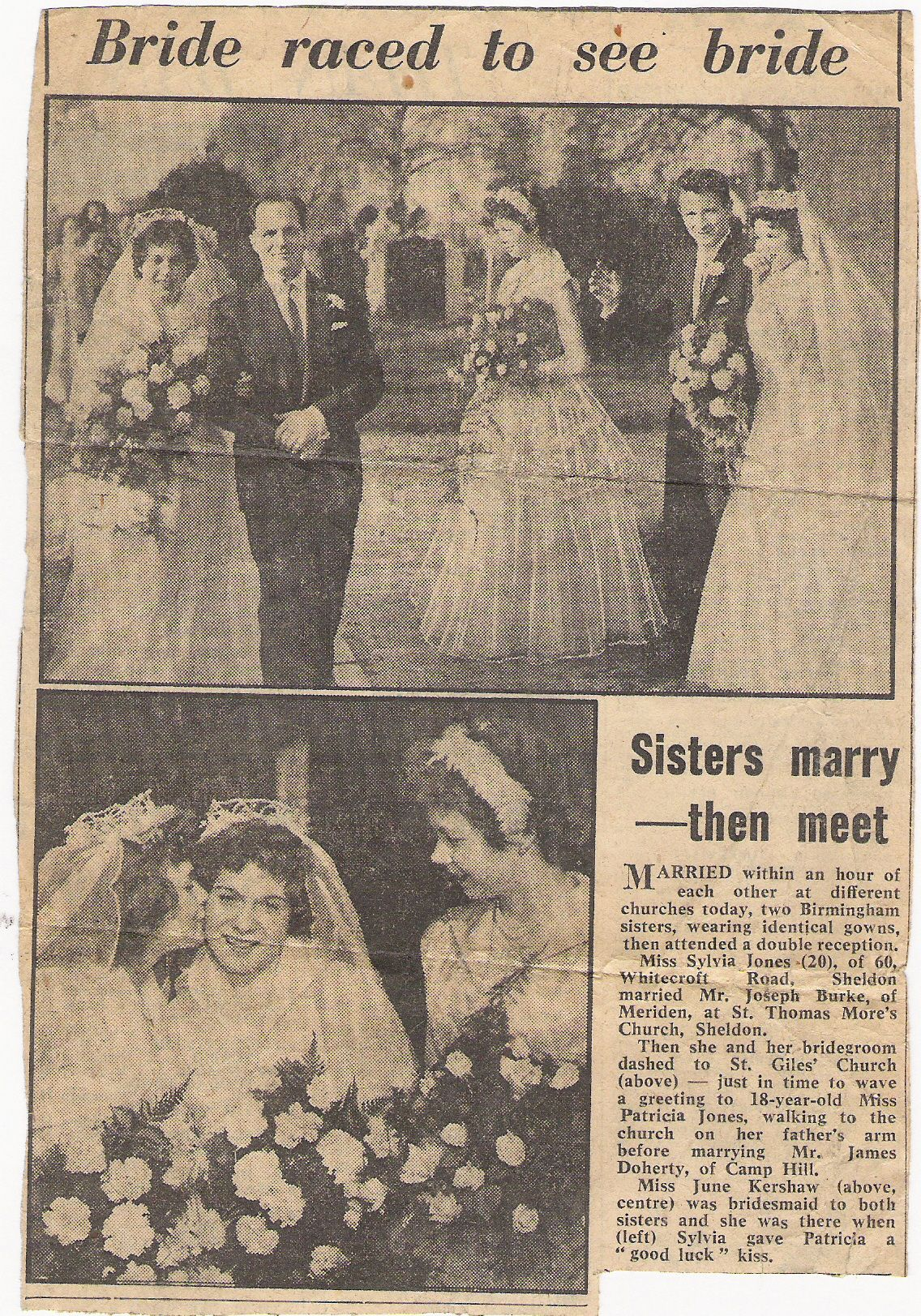 Billy Garraty's Grand Daughter's Sylvia's Wedding to Joseph James Burke from Dublin